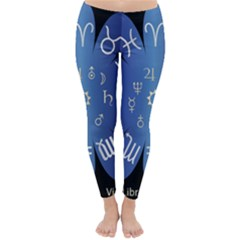 Astrology Birth Signs Chart Classic Winter Leggings