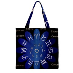 Astrology Birth Signs Chart Zipper Grocery Tote Bag