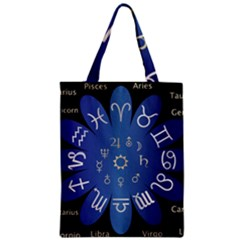 Astrology Birth Signs Chart Zipper Classic Tote Bag
