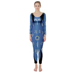 Astrology Birth Signs Chart Long Sleeve Catsuit