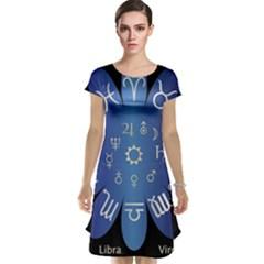 Astrology Birth Signs Chart Cap Sleeve Nightdress