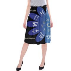 Astrology Birth Signs Chart Midi Beach Skirt