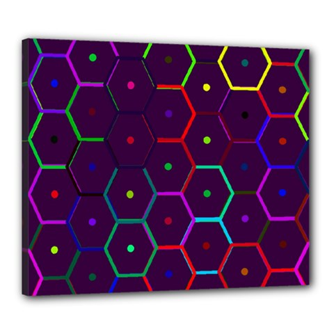 Color Bee Hive Pattern Canvas 24  X 20