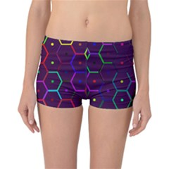 Color Bee Hive Pattern Reversible Bikini Bottoms