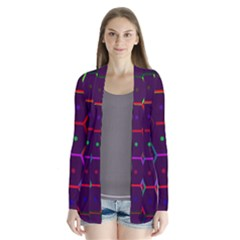 Color Bee Hive Pattern Cardigans