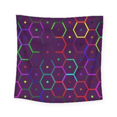 Color Bee Hive Pattern Square Tapestry (small)