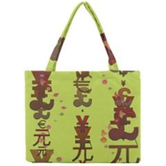 Set Of Monetary Symbols Mini Tote Bag