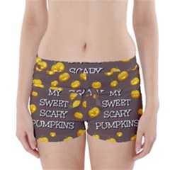 Scary Sweet Funny Cute Pumpkins Hallowen Ecard Boyleg Bikini Wrap Bottoms