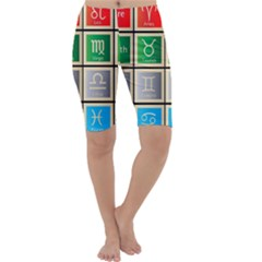 Set Of The Twelve Signs Of The Zodiac Astrology Birth Symbols Cropped Leggings
