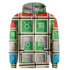 Set Of The Twelve Signs Of The Zodiac Astrology Birth Symbols Men s Pullover Hoodie