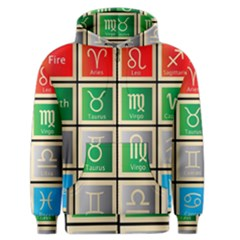 Set Of The Twelve Signs Of The Zodiac Astrology Birth Symbols Men s Zipper Hoodie