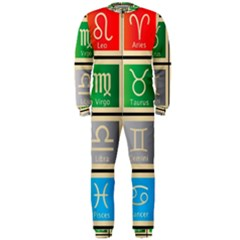 Set Of The Twelve Signs Of The Zodiac Astrology Birth Symbols Onepiece Jumpsuit (men)