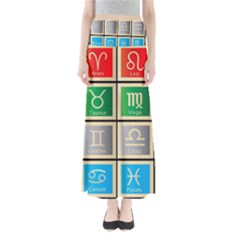 Set Of The Twelve Signs Of The Zodiac Astrology Birth Symbols Maxi Skirts
