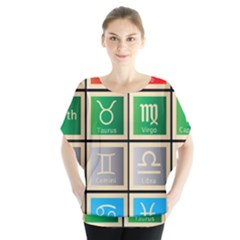 Set Of The Twelve Signs Of The Zodiac Astrology Birth Symbols Blouse