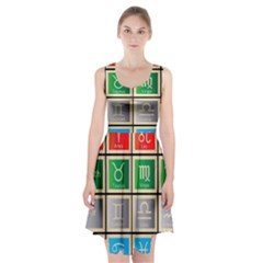 Set Of The Twelve Signs Of The Zodiac Astrology Birth Symbols Racerback Midi Dress
