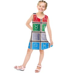 Set Of The Twelve Signs Of The Zodiac Astrology Birth Symbols Kids  Tunic Dress
