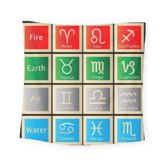 Set Of The Twelve Signs Of The Zodiac Astrology Birth Symbols Square Tapestry (small)