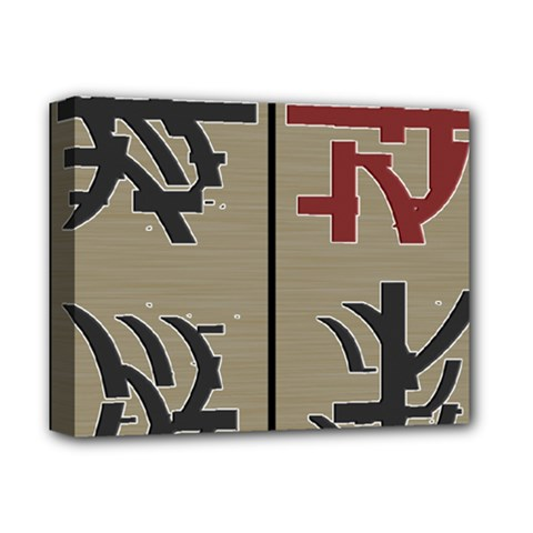 Xia Script On Gray Background Deluxe Canvas 14  X 11