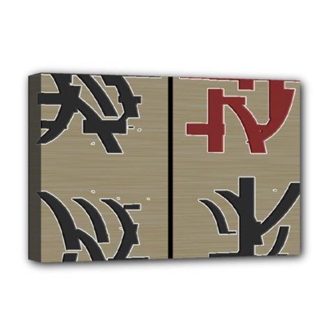 Xia Script On Gray Background Deluxe Canvas 18  x 12