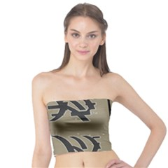 Xia Script On Gray Background Tube Top
