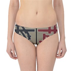Xia Script On Gray Background Hipster Bikini Bottoms