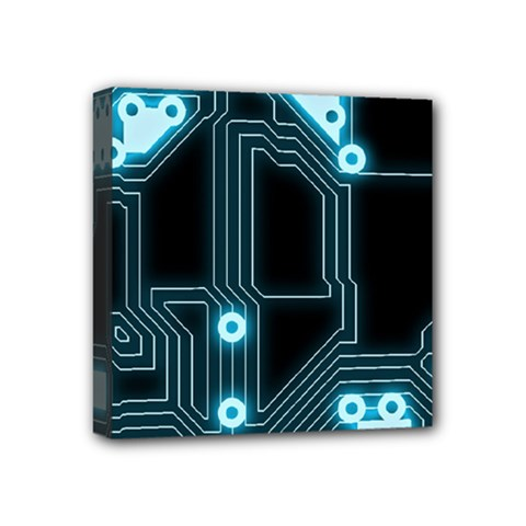 A Completely Seamless Background Design Circuitry Mini Canvas 4  X 4