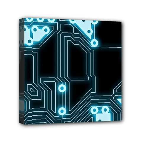 A Completely Seamless Background Design Circuitry Mini Canvas 6  X 6