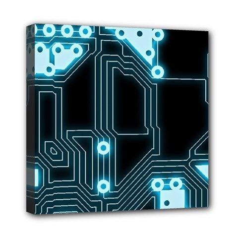 A Completely Seamless Background Design Circuitry Mini Canvas 8  X 8