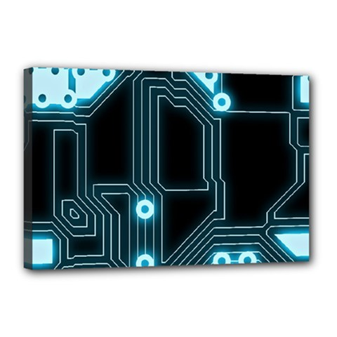 A Completely Seamless Background Design Circuitry Canvas 18  x 12