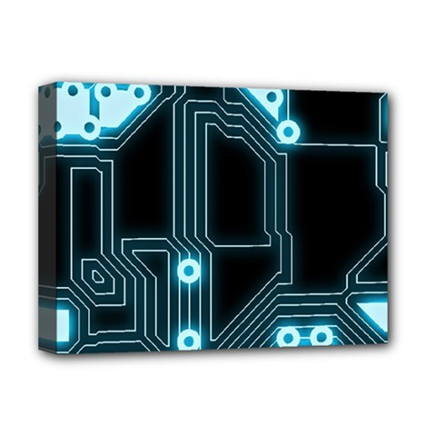 A Completely Seamless Background Design Circuitry Deluxe Canvas 16  X 12