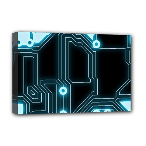 A Completely Seamless Background Design Circuitry Deluxe Canvas 18  X 12