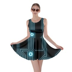 A Completely Seamless Background Design Circuitry Skater Dress