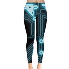 A Completely Seamless Background Design Circuitry Leggings