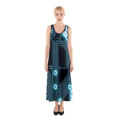 A Completely Seamless Background Design Circuitry Sleeveless Maxi Dress