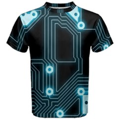 A Completely Seamless Background Design Circuitry Men s Cotton Tee