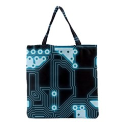 A Completely Seamless Background Design Circuitry Grocery Tote Bag