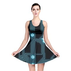 A Completely Seamless Background Design Circuitry Reversible Skater Dress