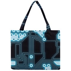 A Completely Seamless Background Design Circuitry Mini Tote Bag