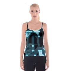 A Completely Seamless Background Design Circuitry Spaghetti Strap Top