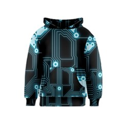 A Completely Seamless Background Design Circuitry Kids  Pullover Hoodie