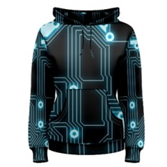A Completely Seamless Background Design Circuitry Women s Pullover Hoodie