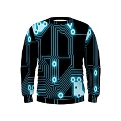 A Completely Seamless Background Design Circuitry Kids  Sweatshirt