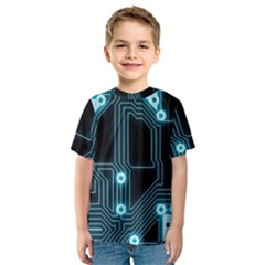 A Completely Seamless Background Design Circuitry Kids  Sport Mesh Tee