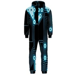 A Completely Seamless Background Design Circuitry Hooded Jumpsuit (men)