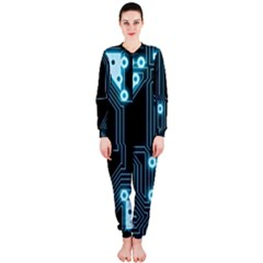 A Completely Seamless Background Design Circuitry Onepiece Jumpsuit (ladies)