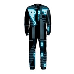 A Completely Seamless Background Design Circuitry Onepiece Jumpsuit (kids)