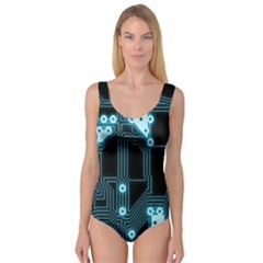 A Completely Seamless Background Design Circuitry Princess Tank Leotard