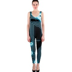 A Completely Seamless Background Design Circuitry Onepiece Catsuit