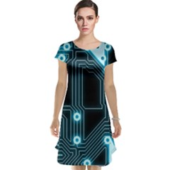 A Completely Seamless Background Design Circuitry Cap Sleeve Nightdress