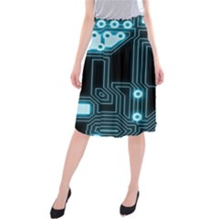 A Completely Seamless Background Design Circuitry Midi Beach Skirt